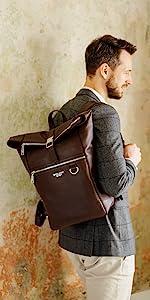 Harlem Brown Backpack