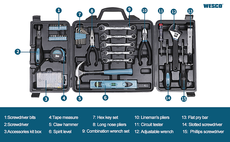Household hand tool set
