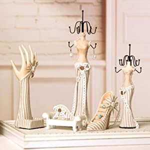 High Heel Shoe Rings Jewelry Holder for Women Display Jewelry Box Showcase Home Decor