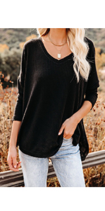 Waffle Knit Shirt Women