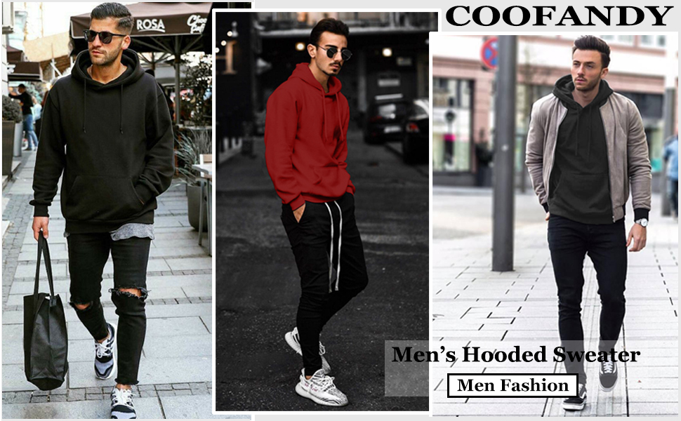 Mens Hooded Pullover Sweaters