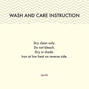 WASH AND CARE INSTRUCTION