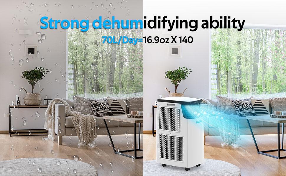 Portable Air Conditioner for Room Dehumidifier 14000BTU Portable Air Conditioning for Bedroom 1