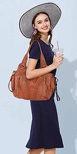 washed leather handbag