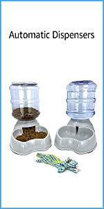 Pet Automatic Food Water Bottle Set