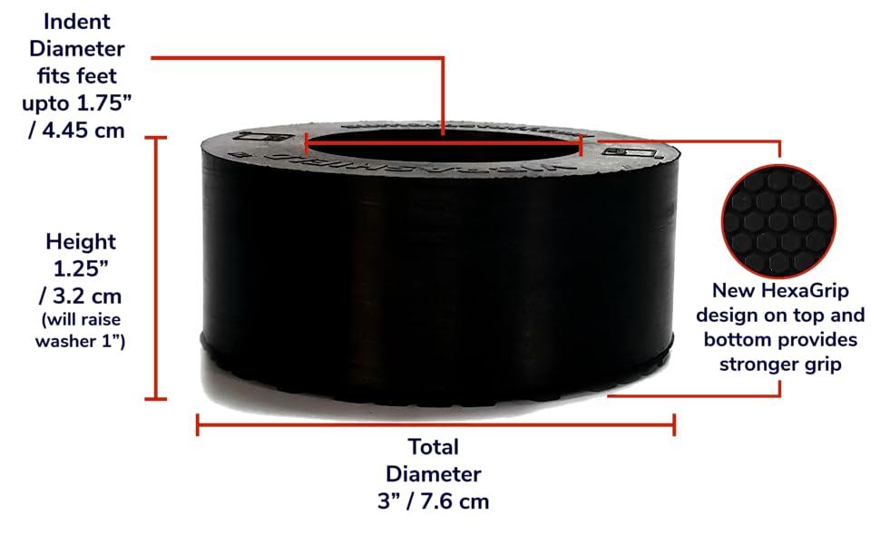 VibraShield - Measurements / Dimensions
