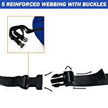 5 REINFORCED WEBBING WITH BUCKLES
