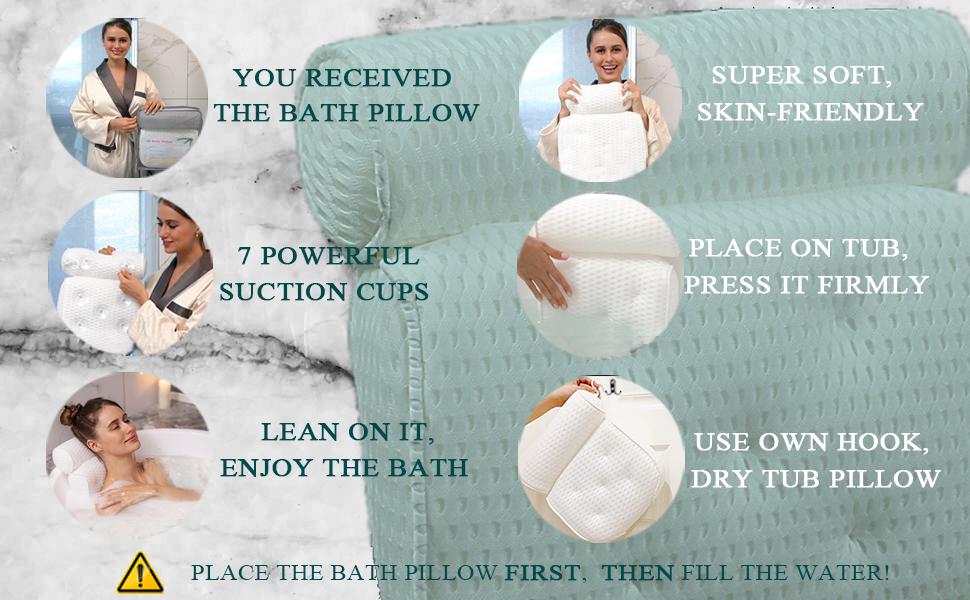 bath pillows for women supplies bathtub accessory soaking tub