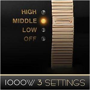1000w 3 setting