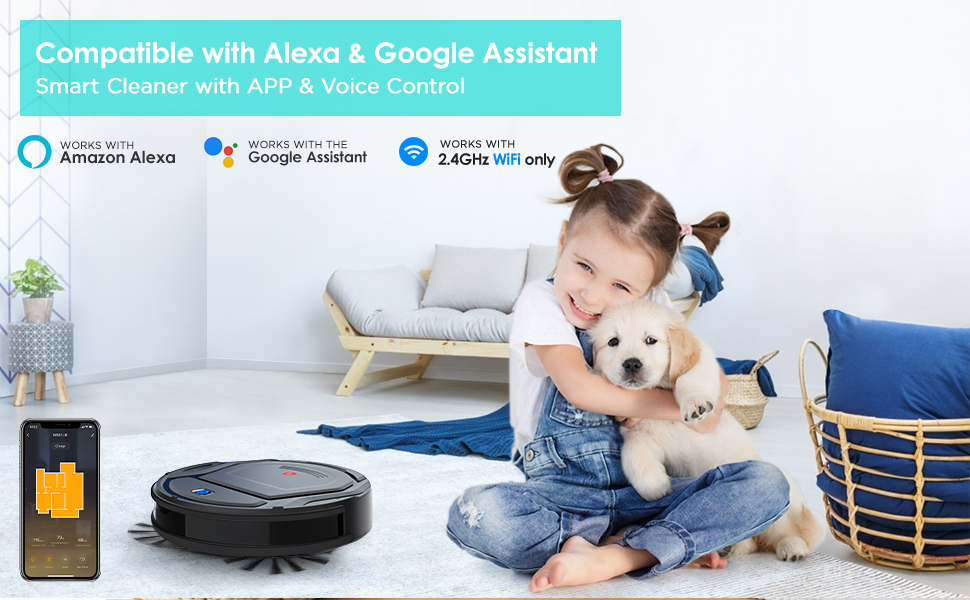 Compatible with Alexa and Google Assistant