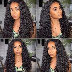 deep wave lace front wigs human hair