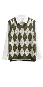 Women Preppy Style Knitted Vest Sweater
