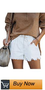 elastic mid waist women jean shorts
