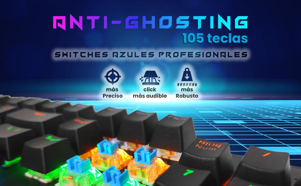 teclado gaming español mecánico, teclado mecánico gaming español, teclado para pc, ps5, ps4