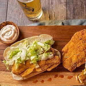 Cajun Fried Catfish Sandwiches