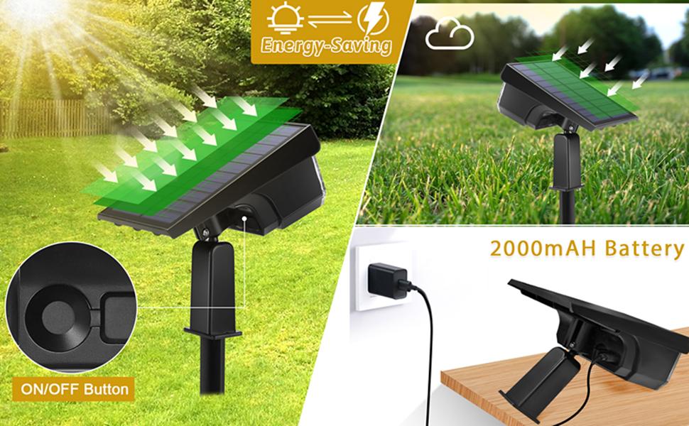landscape lights solar powered