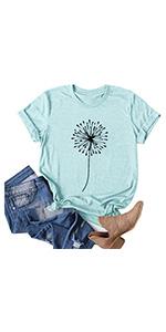 Cute Dandelion Shirts Blue(S-3XL)