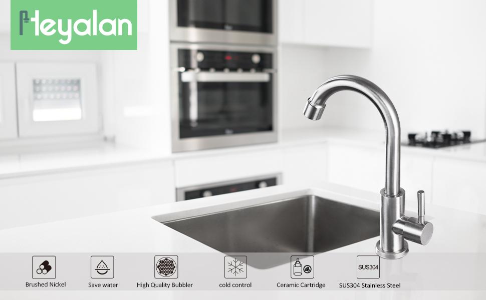 Kitchen sink faucet brushed nickel