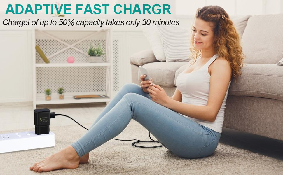 Adaptive Fast Charging Block Compatible with Samsung Galaxy S21 S20/Ultra/Note 20