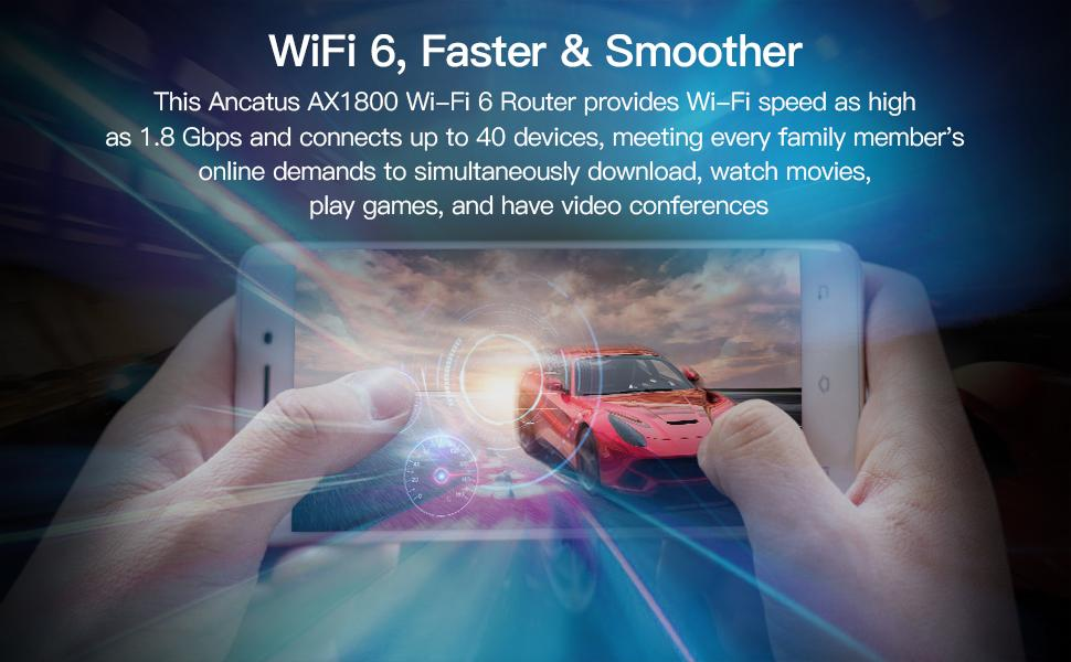 wi-fi 6 best router for large home dual band router 2.4ghz and 5ghz