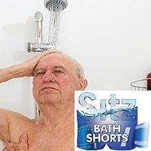 Elderly Man in Shower