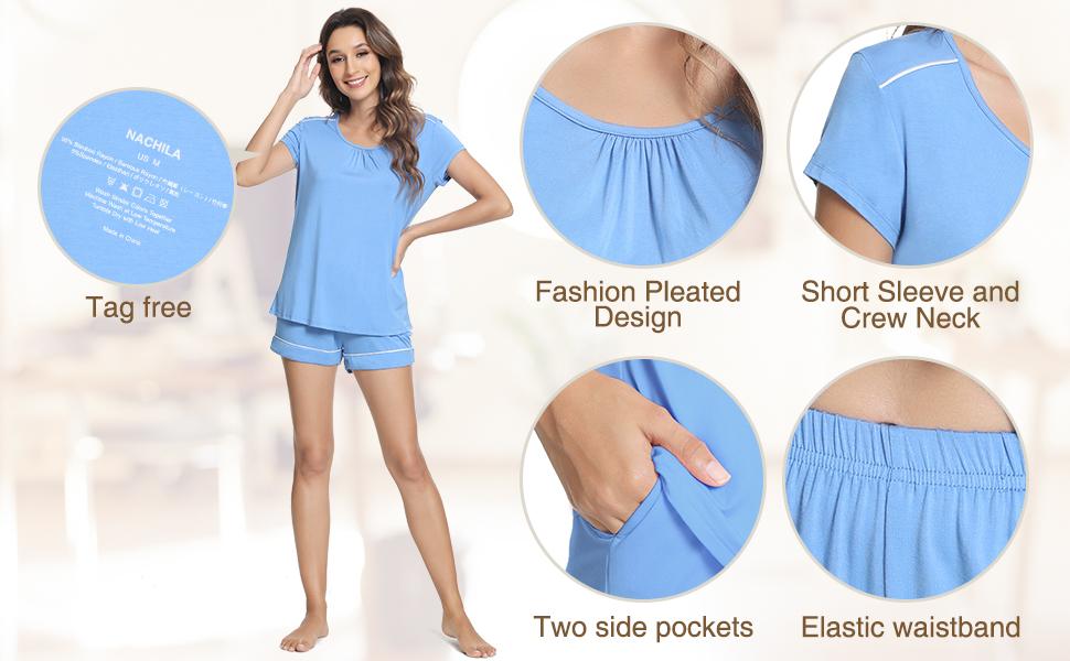 Chest Pleated design makes the nightie more elegant