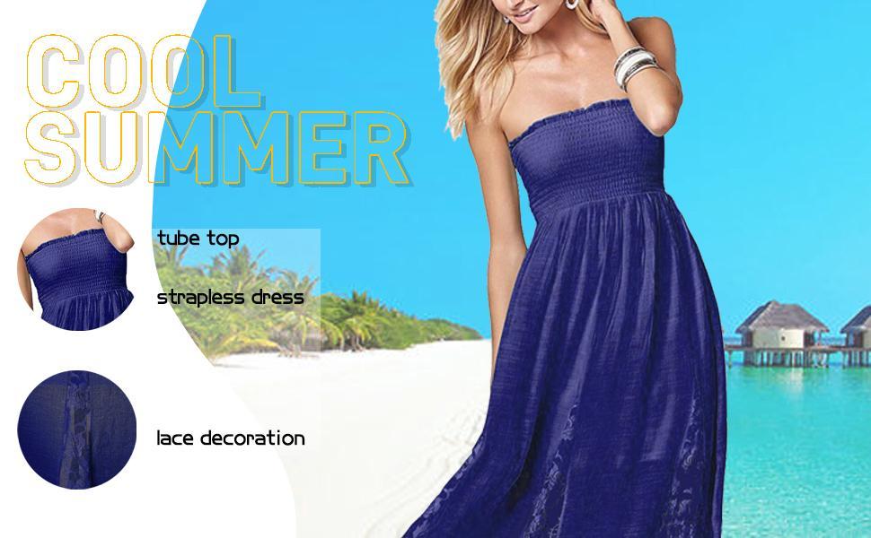 tube top strapless dress