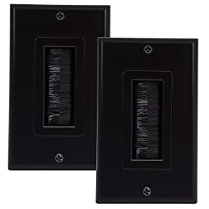2 Pack of Dual Gang Brush Wall Plates