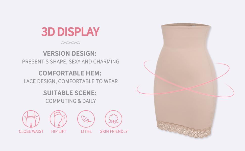 Shaping Slips for Under Dresses Women Body Shaper Shapewear Half Slip Tummy Control