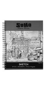 soho sketch book 9x12amp;amp;amp;#34; 100 sheets