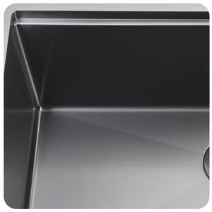 Zeek 33 Inch Gunmetal Black Stainless Steel