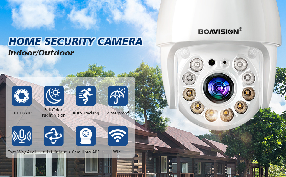 Security camera outdoor home camera