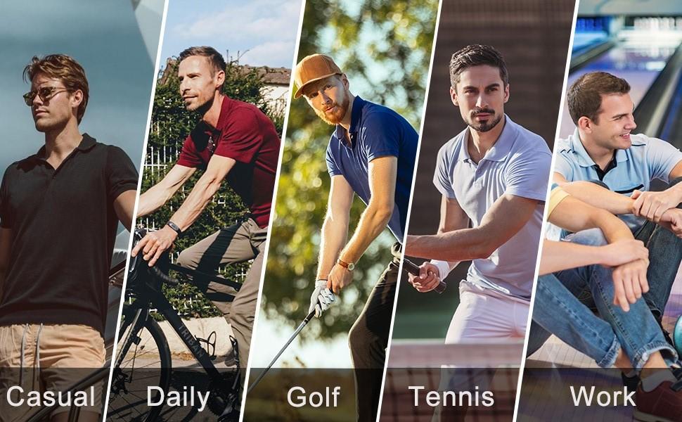 mens causual golf polo shirt
