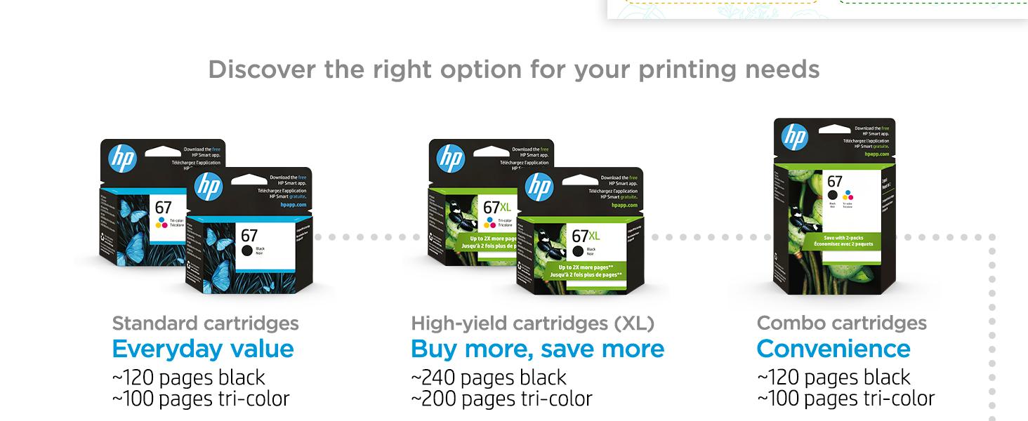 original hp 67 ink standard high-yield multipack cartridges Instant Ink value