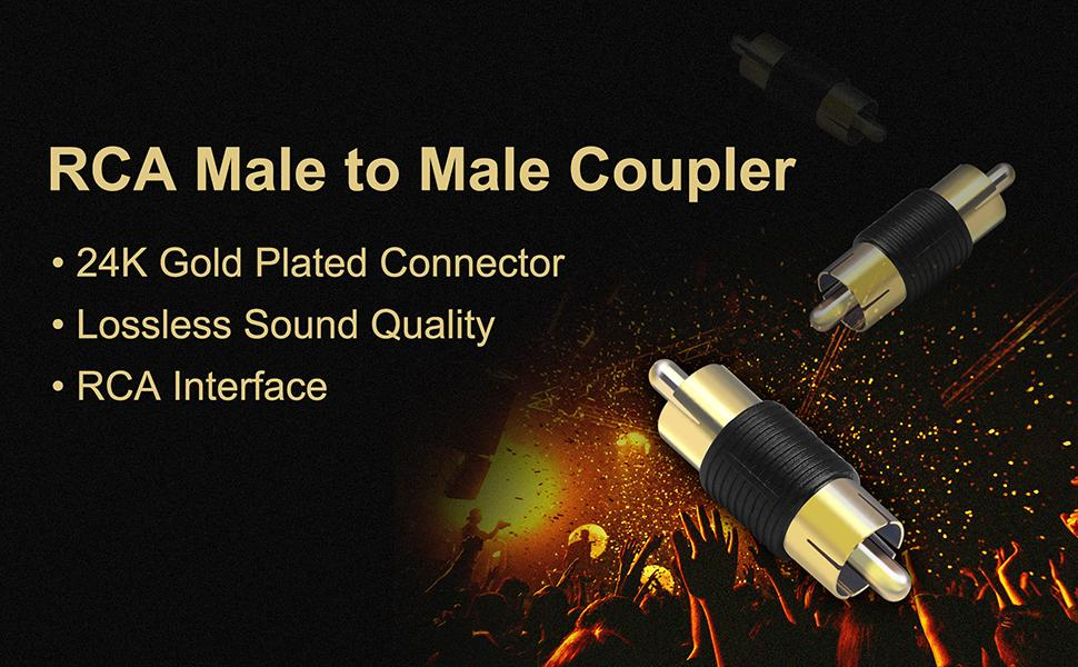 RCA Male to Male Coupler