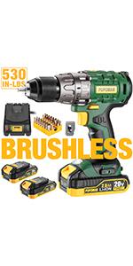 brushless drill green