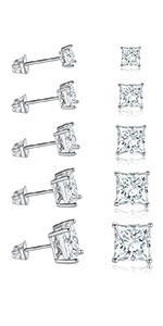 heart earrings,stud earrings,earrings for men,men earrings,white gold earrings,square earrings
