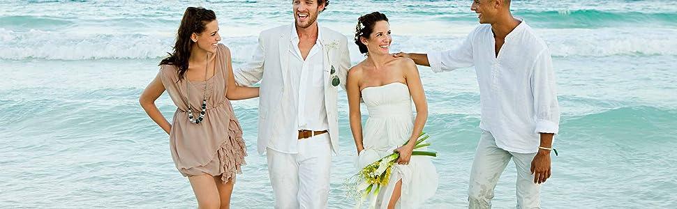Babioboa Menamp;#39;s Linen Henley Shirt Deep V Neck Long Sleeve Hippie Casual Beach Cotton T Shirts