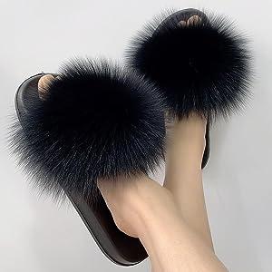 Black Real Fox Fur