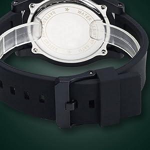 Kolpsy 1142 Big dial S-Shock Digital Black Men's Watch SPN-FOR1