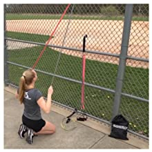 Exercises at fence resistance bands