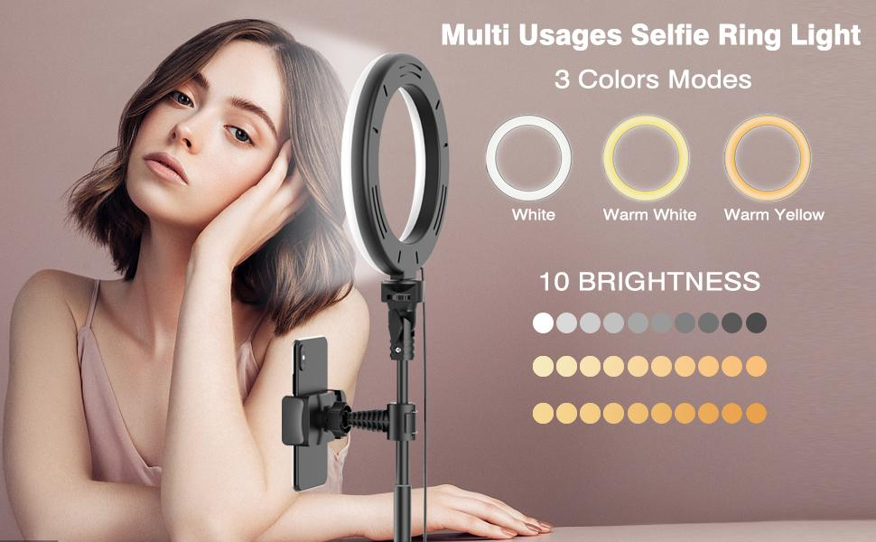 LED selfie ring light with tripod stand