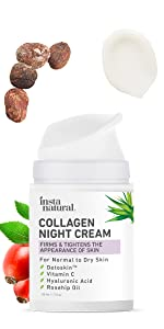 collagen night cream vitamin c hyaluronic acid