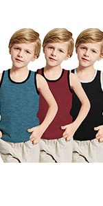 Big Boys Youth 3 Pack Sleeveless Casual Tank Tops