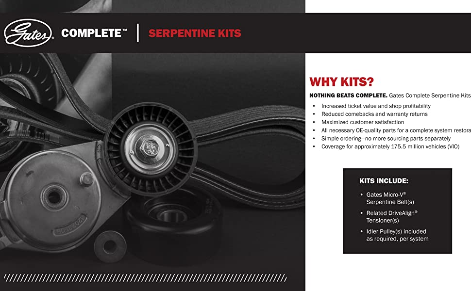 Complete serpentine kits