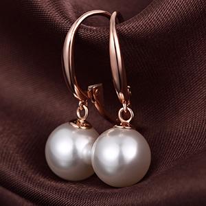 Orecchini perle oro rosa