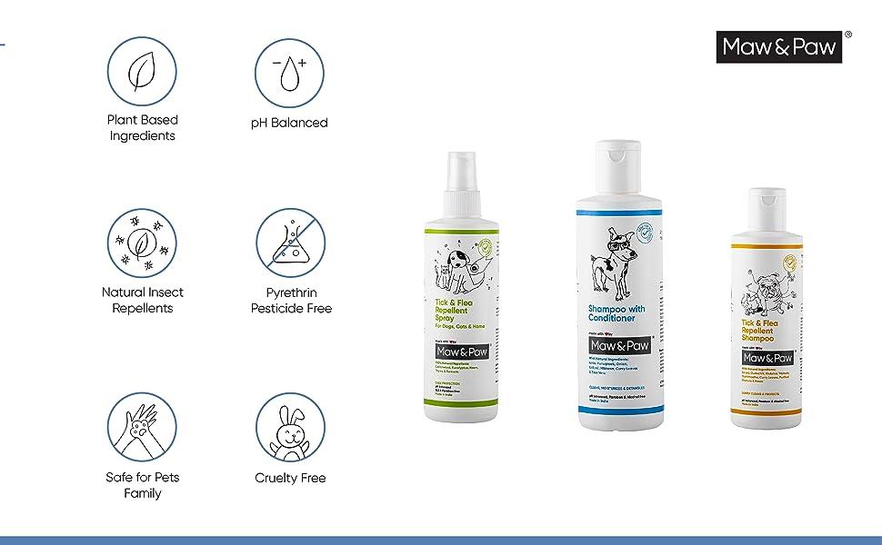 Natural Dog shampoo with conditioner, herbal dog shampoo, neem shampoo for dogs