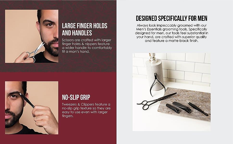 finger holds no slip grip designed for men