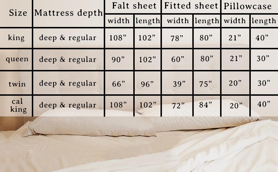 Cotton Pillowcases King Size - Extra Long Pillowcase - Organic Cotton Pillowcases