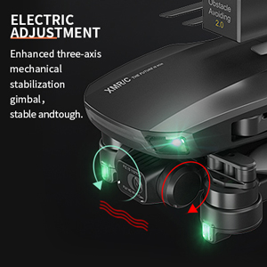 Enhanced three-axis mechanical stabilization gimbal,stable andtough.